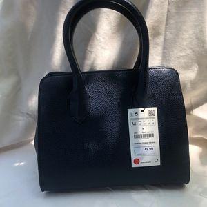 Zara dark blue purse handbag NWT crossbody strap